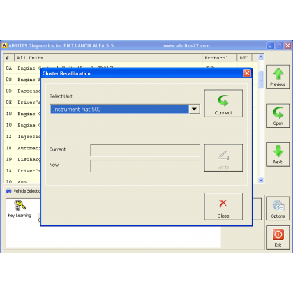 FN013 Fiat Instrument Cluster Data Manager  Function