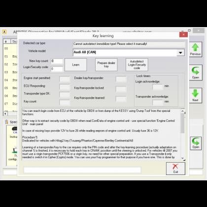 VN003 VAG Key Programming Function